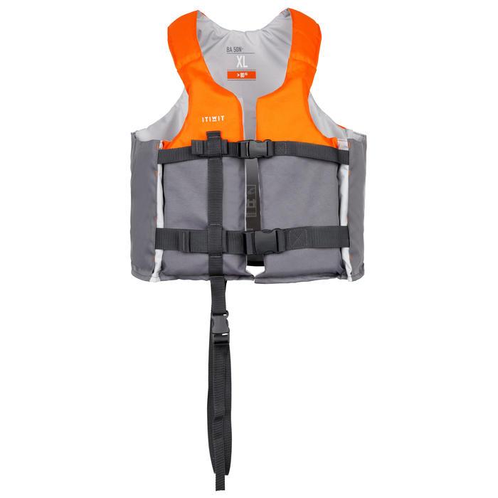 Drijfvest 50N+ oranje voor kajak stand-up paddling zwaardboot