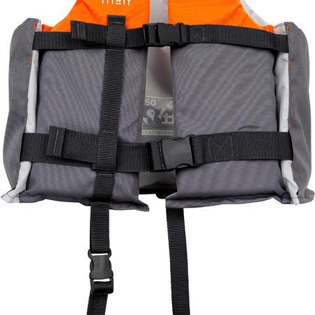 GILET AIDE A LA FLOTTABILITE 50N+ orange kayak stand up paddle dériveur