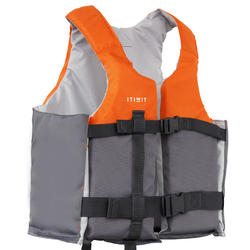 GILET AIDE A LA FLOTTABILITE 50N+ orange kayak stand up paddle dériveur