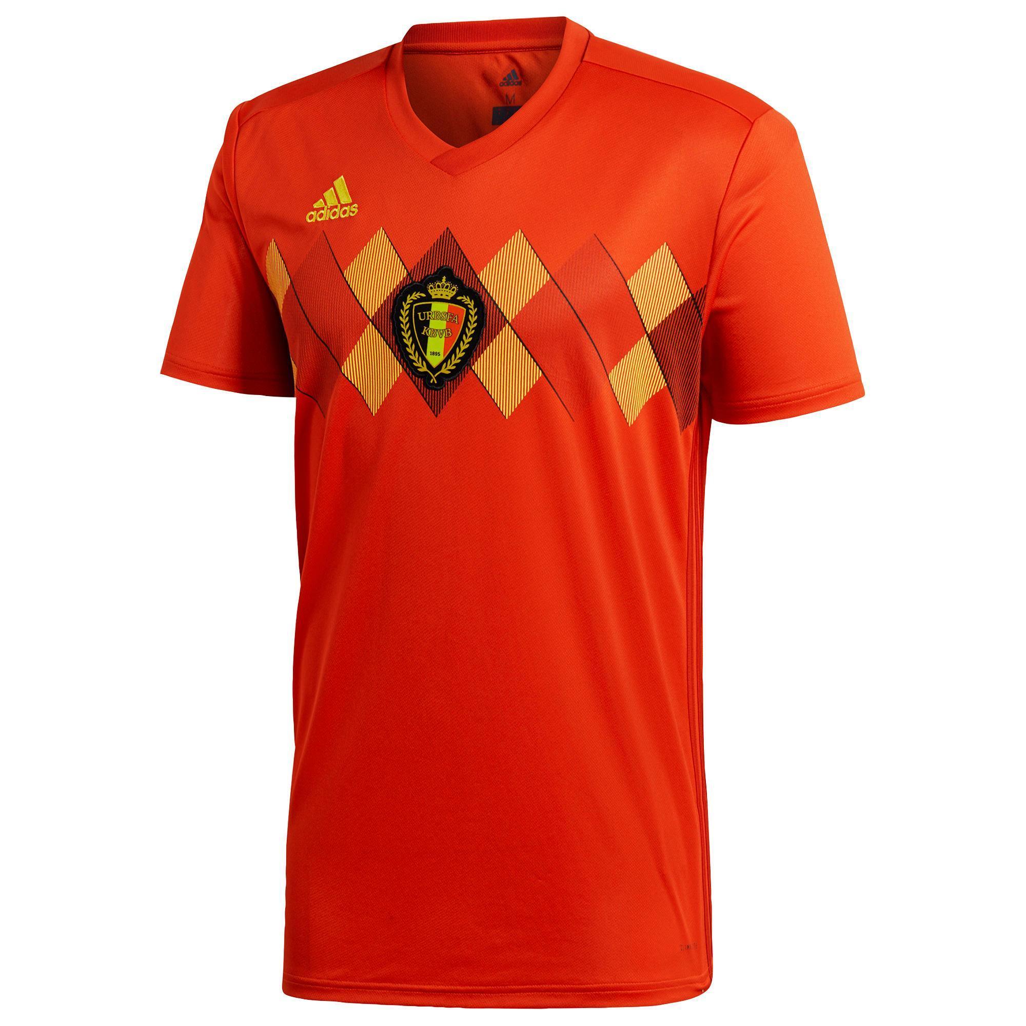 Fußballtrikot Belgien Erwachsene rot | Sportbekleidung > Trikots | Adidas