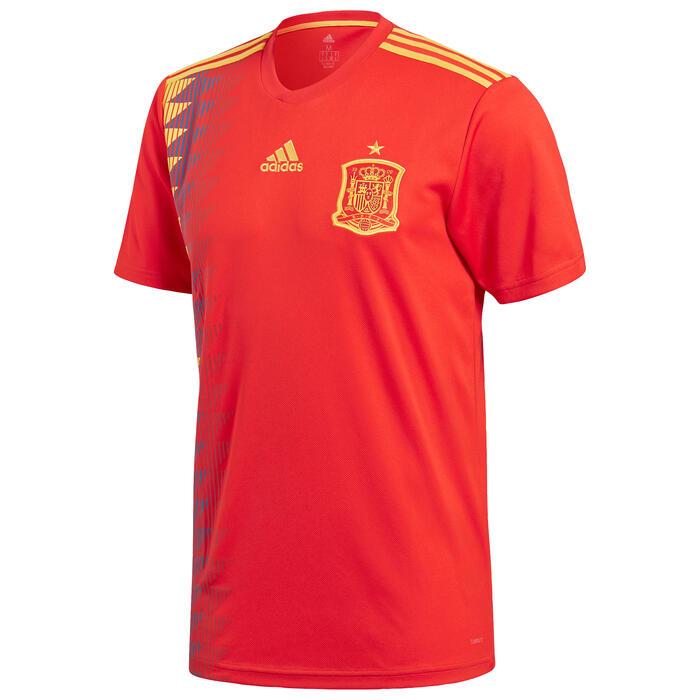 Voetbalshirt voor volwassenen, replica thuisshirt Spanje rood