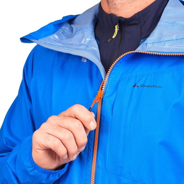 Men's Waterproof Fast Hiking Jacket FH500 Helium Rain - Blue