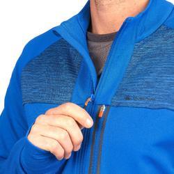 Fleecejack heren speed hiking FH500 Helium elektrisch blauw