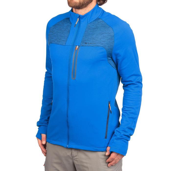 Veste Polaire de randonnée rapide Homme FH500 Helium bleu électrique