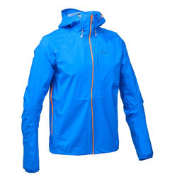Men's waterproof jacket for quick hikes FH500 Helium Rain blue