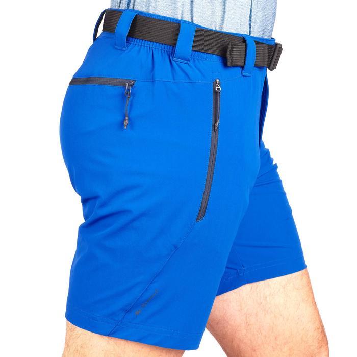 Pantalón Corto de Montaña y Trekking Quechua MH500 Hombre Azul Claro