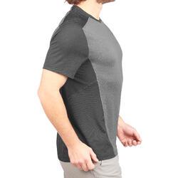 男款登山健行短袖T恤MH500-灰色