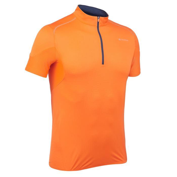 Men's Fast Hiking Short-sleeved T-shirt FH500 Helium - Orange