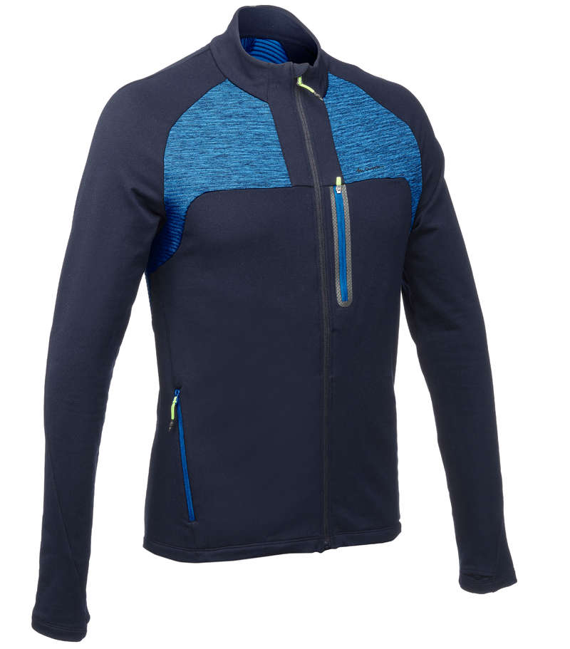MEN MOUNTAIN HIKING FLEECES Hiking - FH500 Men's Fleece Jacket QUECHUA - Hiking Clothes