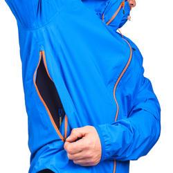 Chamarra impermeable de senderismo rápido Hombre FH500 Helium Rain Azul