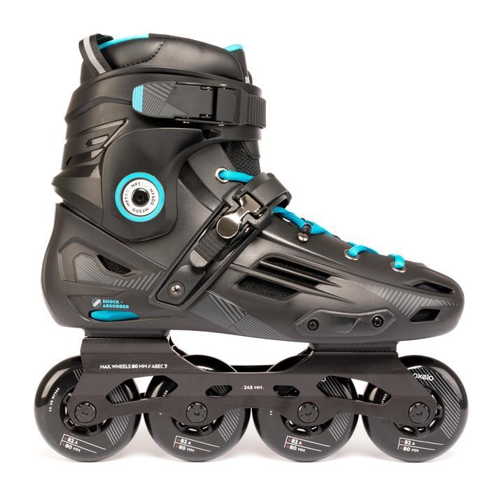Inline Skates Inliner Freeride MF500 Hardboot Erwachsene schwarz/blau