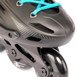 成人款自由式直排輪MF500 HardBoot-黑藍配色