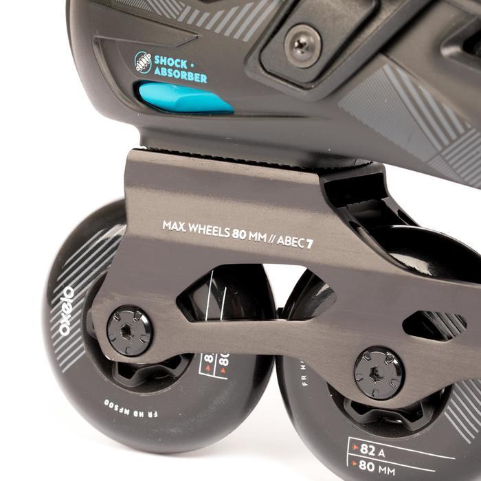 Roller freeride adulte  MF500 HardBoot noir bleu - 1279398