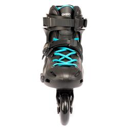 成人自由式直排輪MF500 HardBoot - 黑色/藍色
