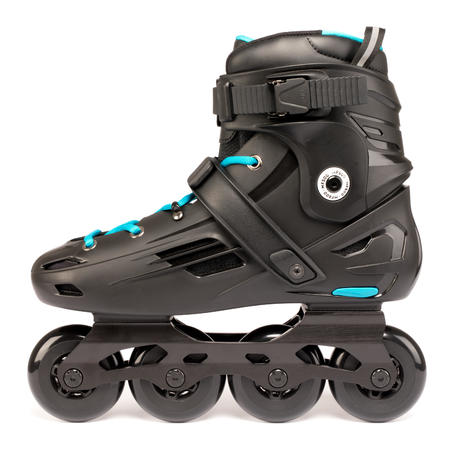 Adult Freeride Hardboot Inline Skates MF500 - Black/Blue