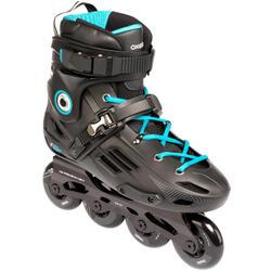 Freeride hardboot-skeelers voor volwassenen MF500 zwart/blauw