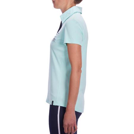 140 Women's Horse Riding Short-Sleeved Polo Shirt - Sea Green