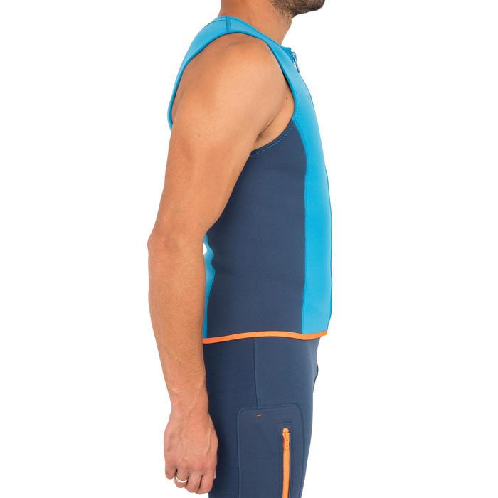 男款2 mm氯丁橡膠獨木舟和立式划槳背心500-電光藍