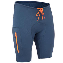 Neopreen short 500 heren voor kajak en suppen 2 mm blauw