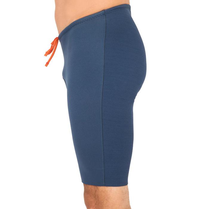 男款氯丁橡膠短褲(開放式獨木舟和立式划槳用)500 2 mm-藍色