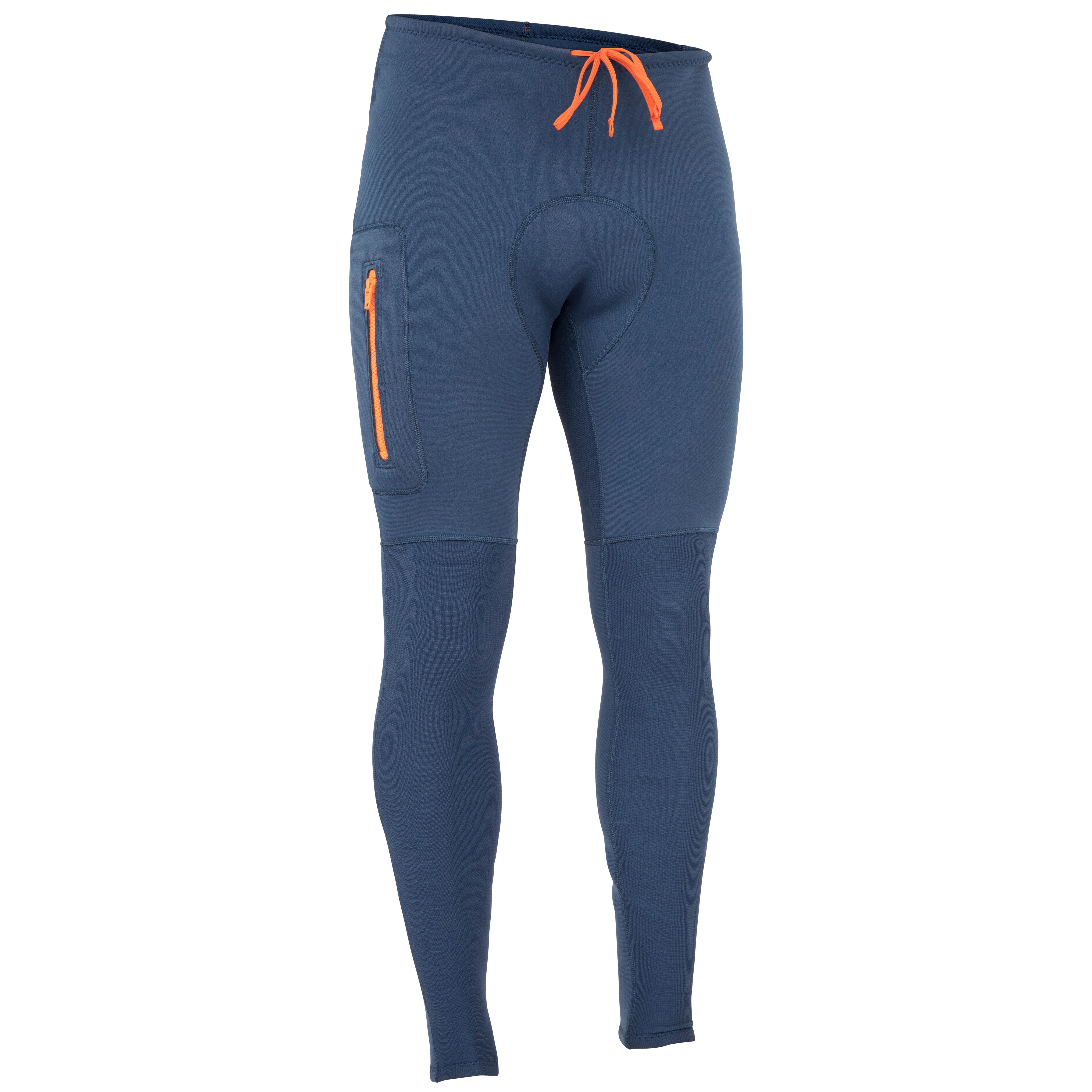 Neopreen broek / wetsuit broek heren 500 - 2 mm blauw - itiwit