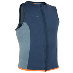 GILET KAYAK ET STAND UP PADDLE 500 HOMME NEOPRENE 2 MM BLEU ELEC
