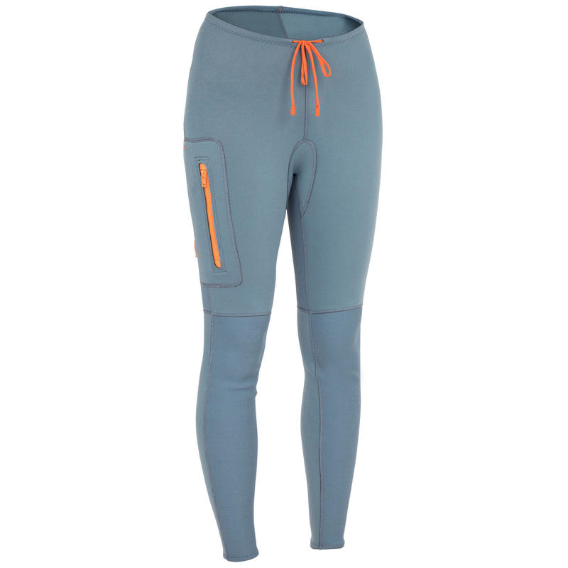W2MM NEOPRENE CANOEING, KAYAKING AND STAND-UP PADDLEBOARDING TROUSERS 500 BLUE