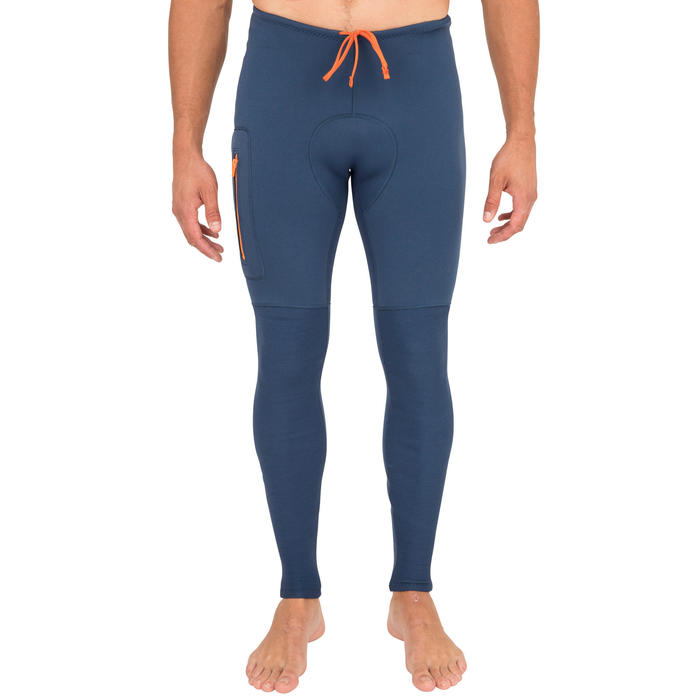 PANTALÓN CANOA-KAYAK Y STAND UP PADDLE 500 HOMBRE NEOPRENO 2 mm AZUL