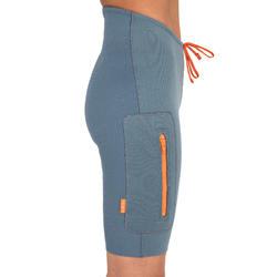 SHORT DE NEOPRENO DE CANOA KAYAK Y STAND UP PADDLE MUJER AZUL 2 MM