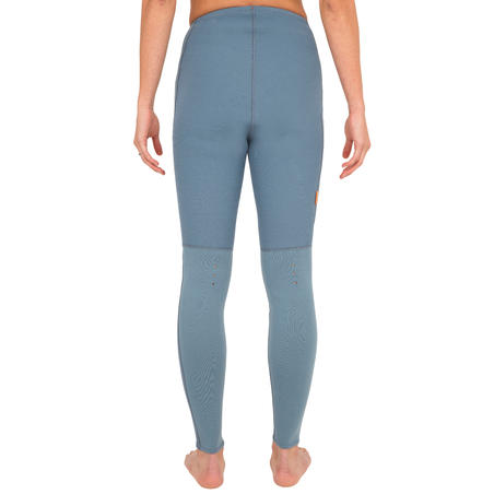 500 WOMEN'S 2MM NEOPRENE KAYAKING AND STAND UP PADDLE TROUSERS BLUE