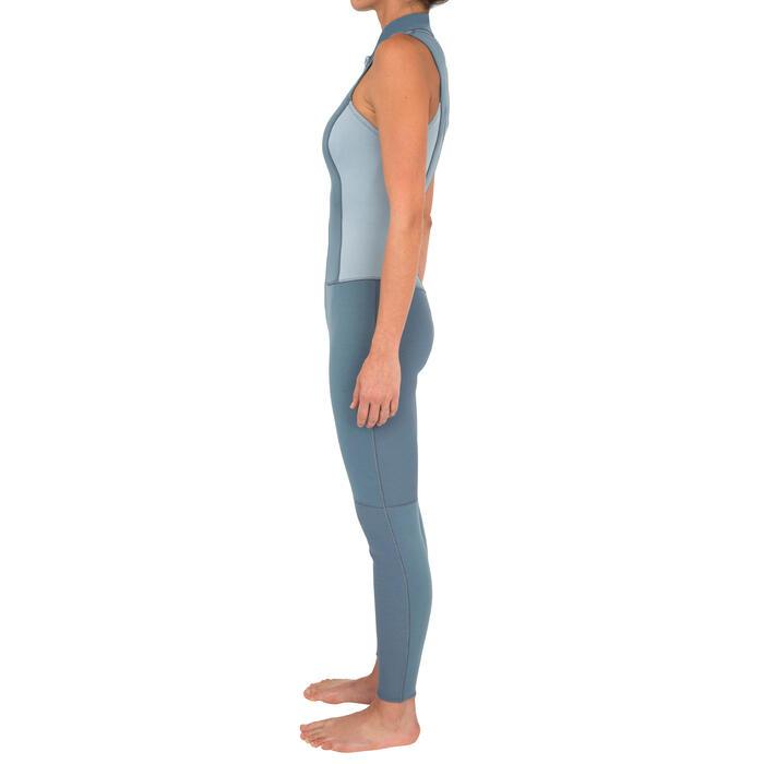 COMBINAISON DEBARDEUR KAYAK STAND UP PADDLE 500  FEMME NEOPRENE 2MM GRIS BLEU - 1279571