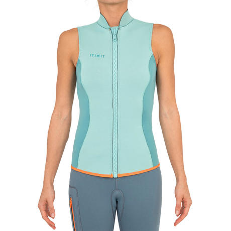 gilet kayak et stand up paddle 500 femme neoprene 2 mm vert itiwit 8403354 1279578.jpg b1072d84d