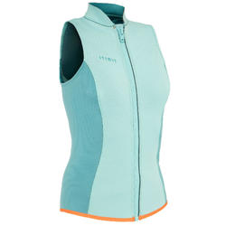 GILET KAYAK ET STAND UP PADDLE 500 FEMME NEOPRENE 2 MM VERT