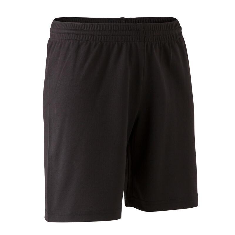 Short de fútbol Júnior F100 Negro