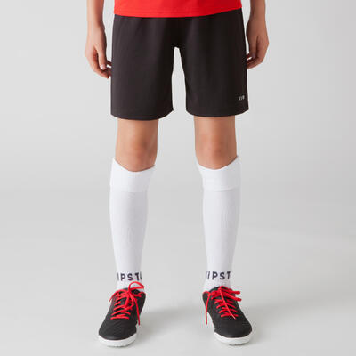 מכנסי כדורגל קצרים לילדים F100 - שחור