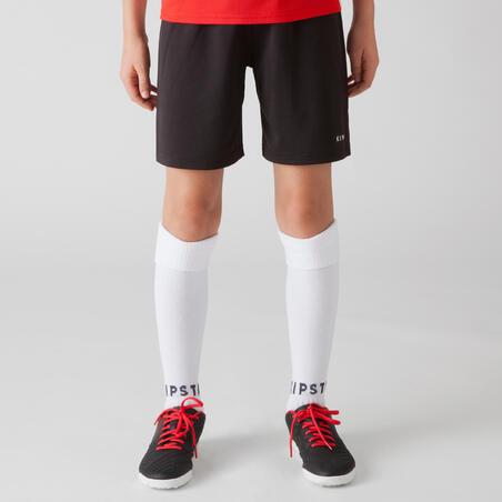 Short de football enfant F100  Noir