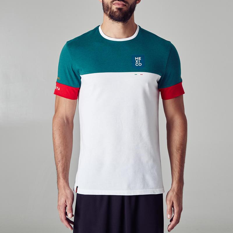 c10c58df40211 Camiseta de fútbol para adultos FF100 México blanco y verde - Decathlon
