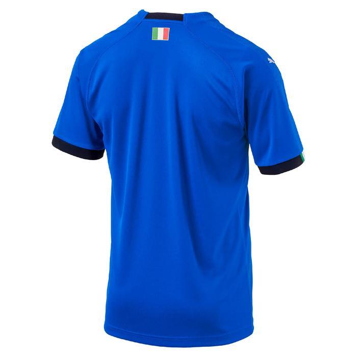 Camiseta réplica fútbol niños Italia local 2018 azul Puma  c99a16f67d78b