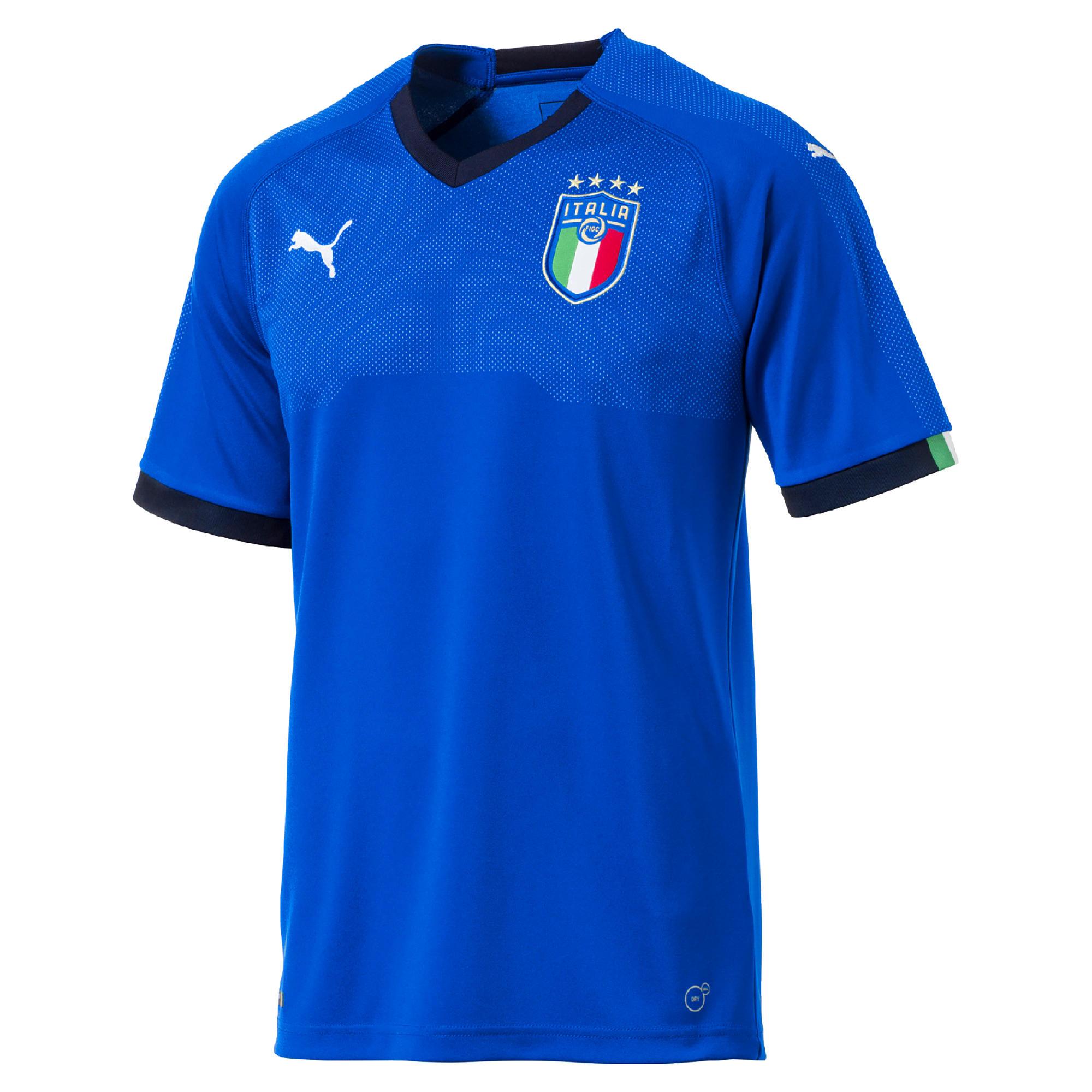 Puma Voetbalshirt Itali� thuisshirt 2018 voor volwassenen blauw
