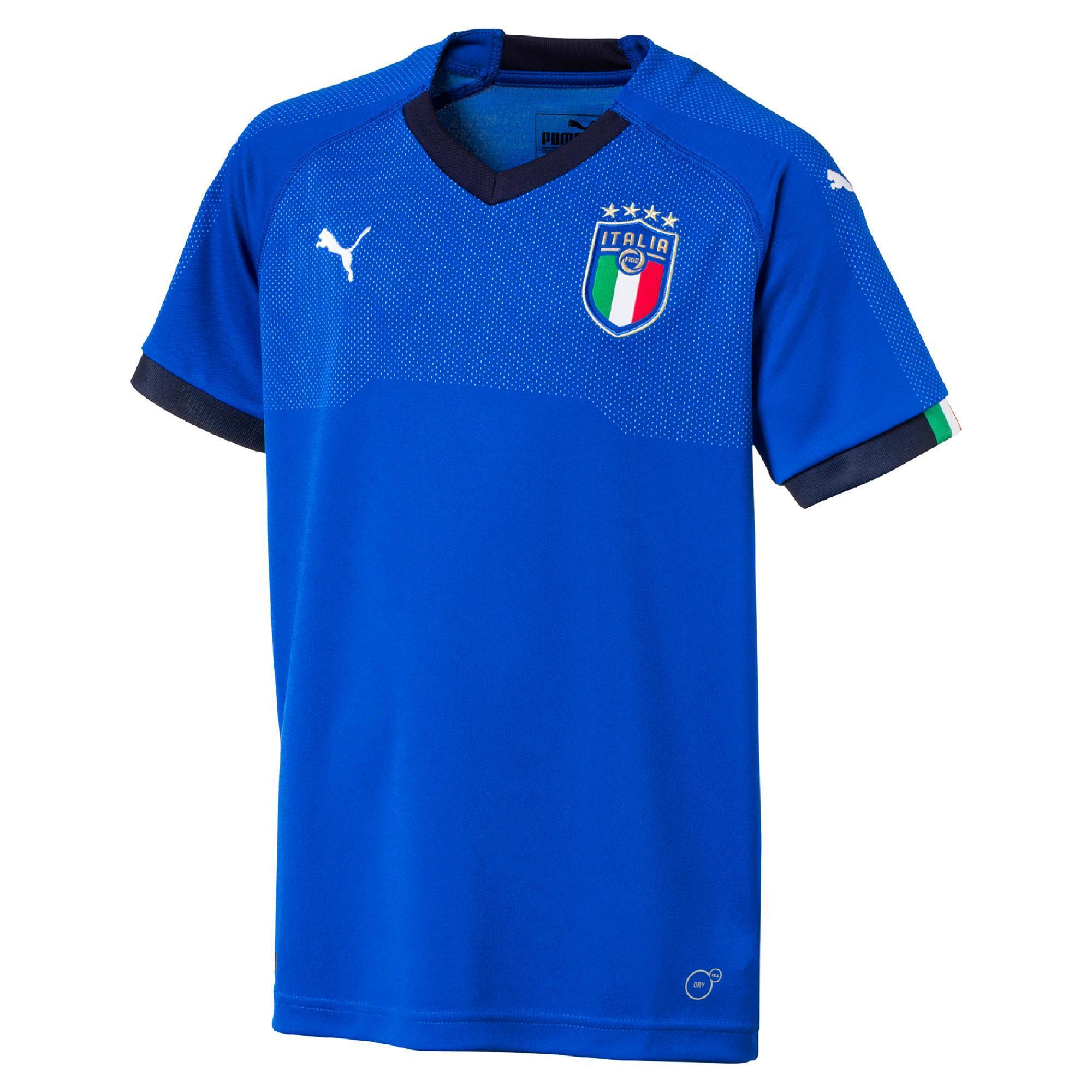 bbeb5e484b Camiseta réplica fútbol niños Italia local 2018 azul Puma