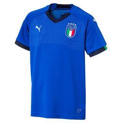 Voetbalshirt voor kinderen, replica thuisshirt Italië 2018 blauw
