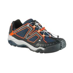 Zapatillas de senderismo niños Crossrock impermeable azul/naranja