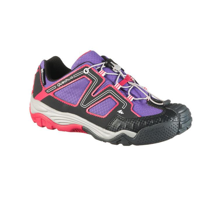 Zapatillas de montaña niños talla 28-38 impermeables Crossrock violeta