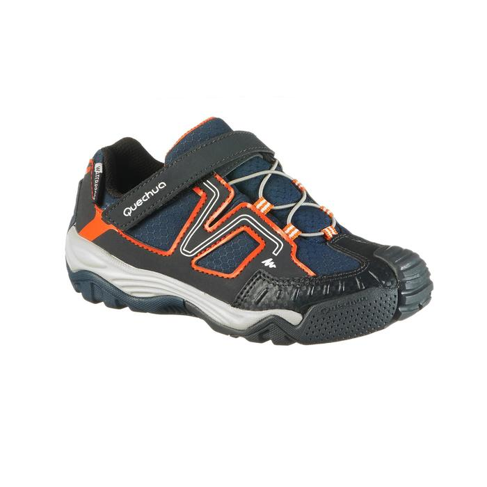 Chaussures de randonnée enfant Crossrock imperméable bleu/orange