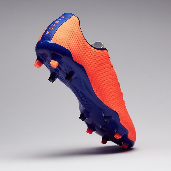 Chaussure de football adulte terrains secs CLR900 FG orange bleue - 1279759