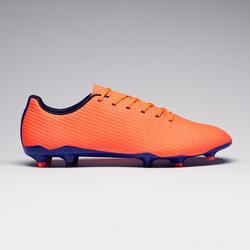 Chaussure de football terrains secs adulte CLR900 FG orange bleue