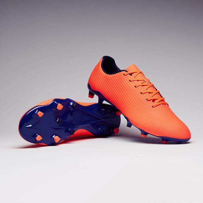 Chaussure de football adulte terrains secs CLR900 FG orange bleue - 1279761