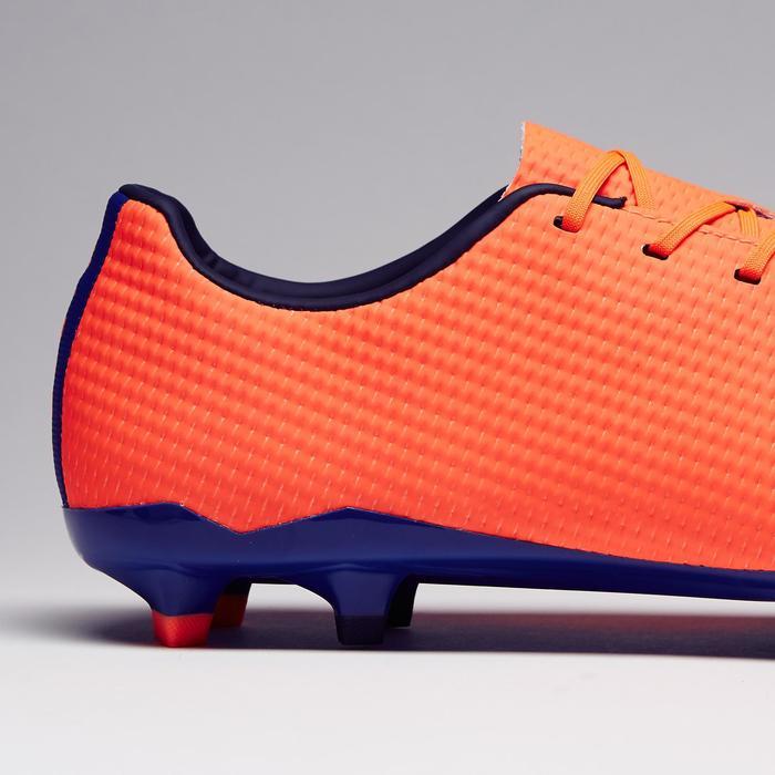 Chaussure de football adulte terrains secs CLR900 FG orange bleue - 1279762