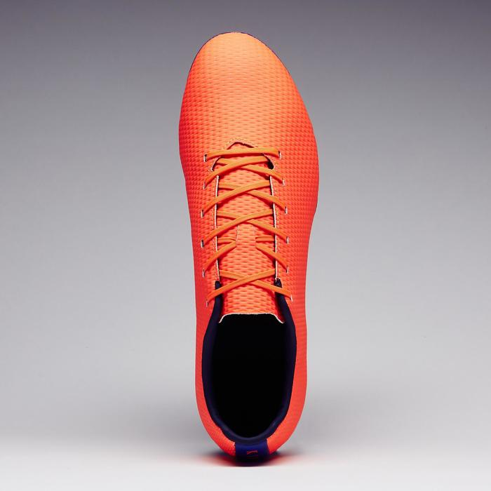 Chaussure de football adulte terrains secs CLR900 FG orange bleue