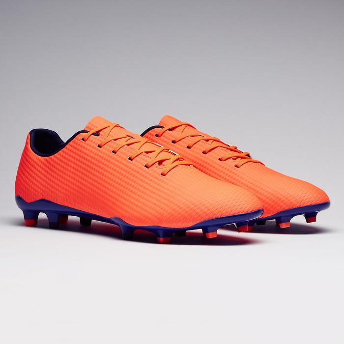 Chaussure de football adulte terrains secs CLR900 FG orange bleue - 1279765